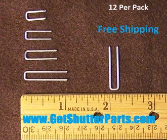 Shutter Staple- Quarter Inch Crown-Various Lengths