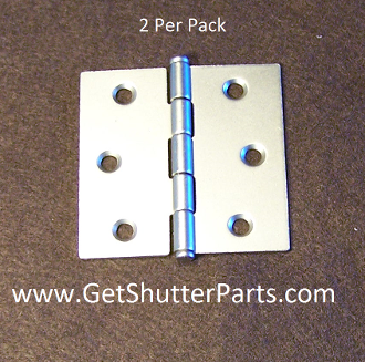 2 1/2 X 2 1/2 Nickel Satin / Brushed Nickel Plantation Shutter Hinge
