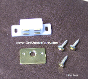 Four Post Shutter Magnet- Brass Plate